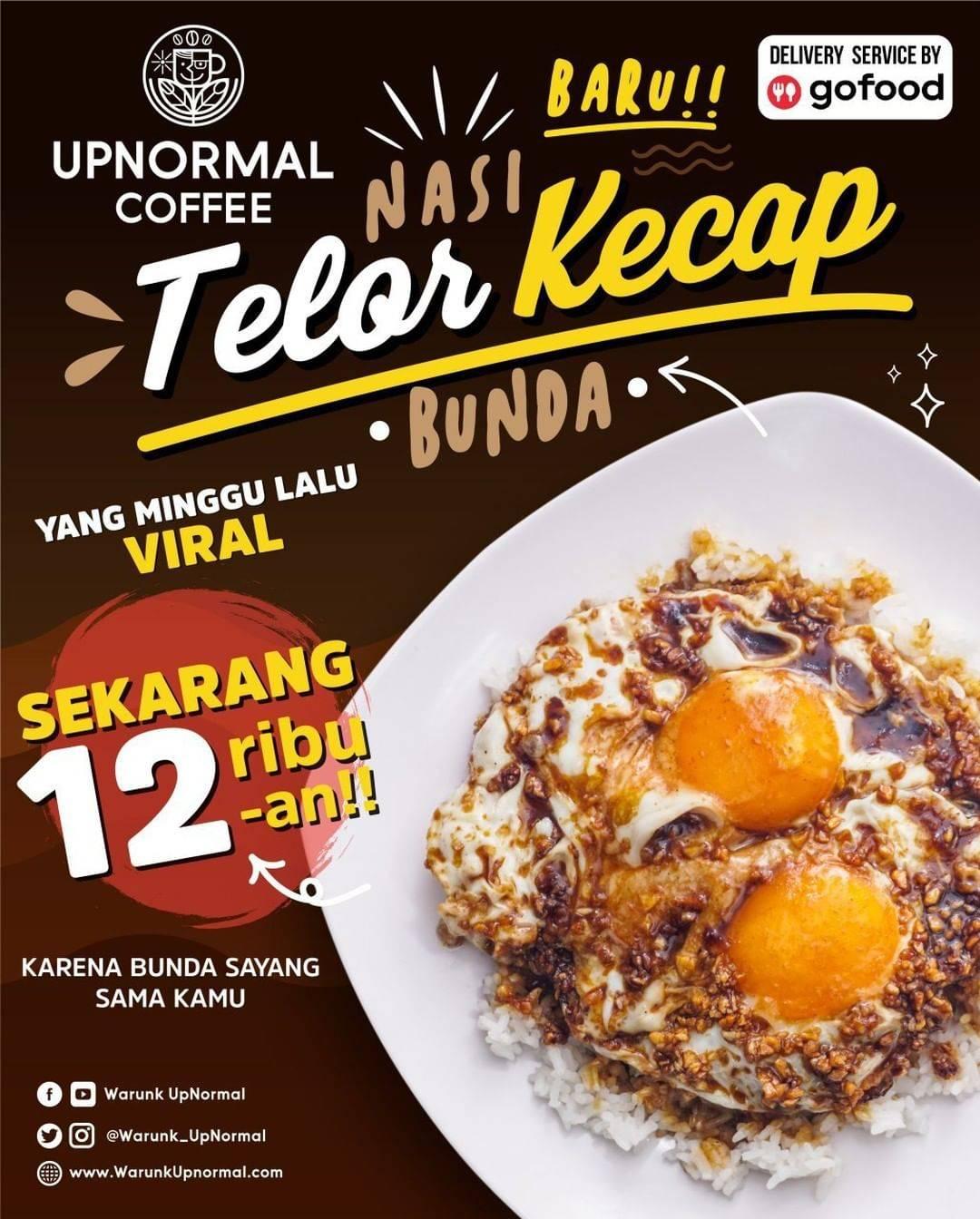 Warunk Upnormal Promo NASI TELOR KECAP VIRAL cuma Rp. 12 RIBU-AN