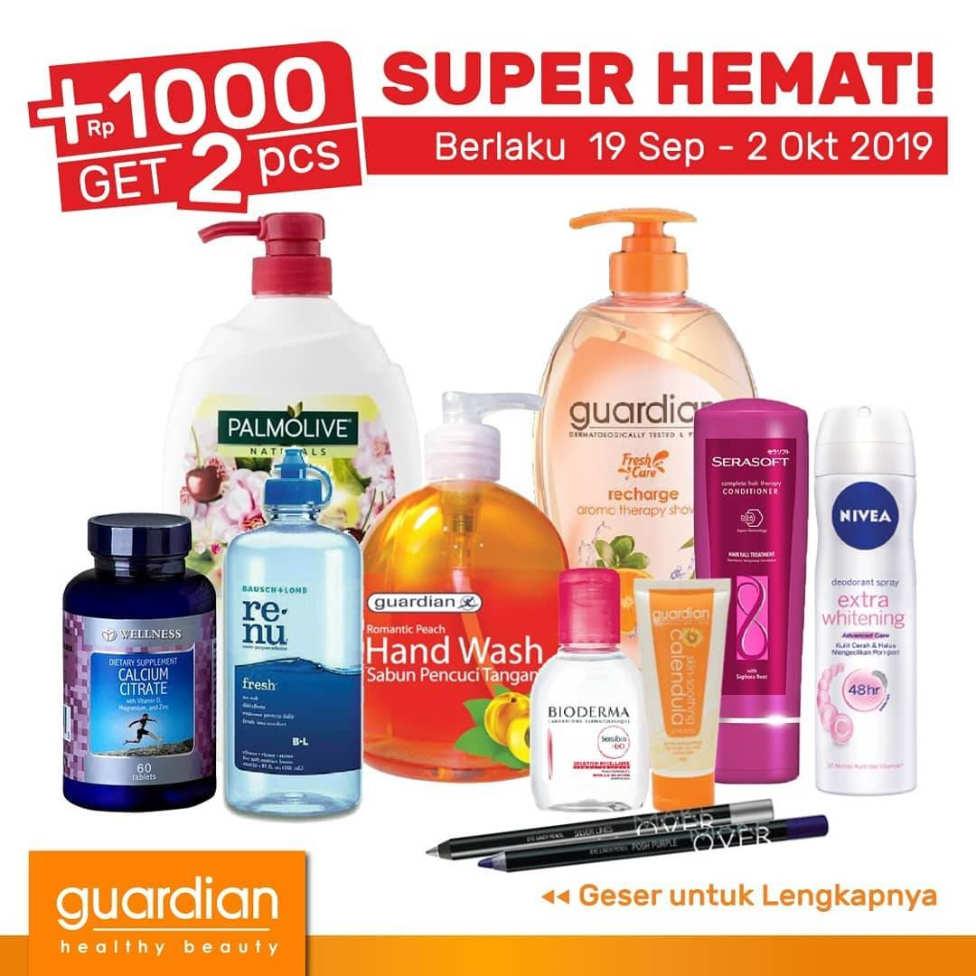 Katalog GUARDIAN Promo Weekly Specials! periode 19 September – 02 Oktober 2019