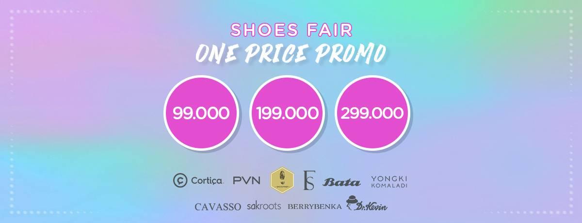 BLIBLI.COM SHOES FAIR Promo One Price Mulai dari Rp 99.000 untuk Brand Pilihan!