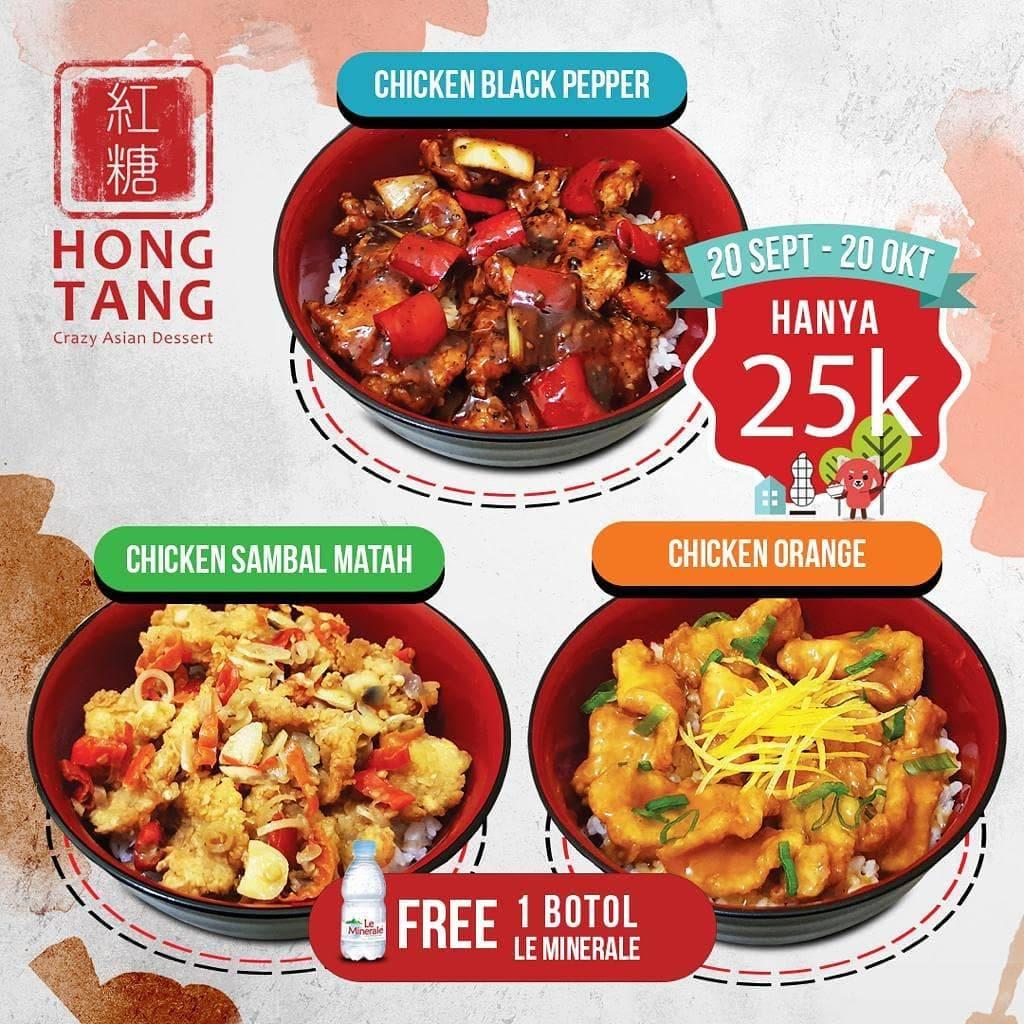 HONG TANG Promo Cicken Rice Bowl + Le Mineral cuma 25k
