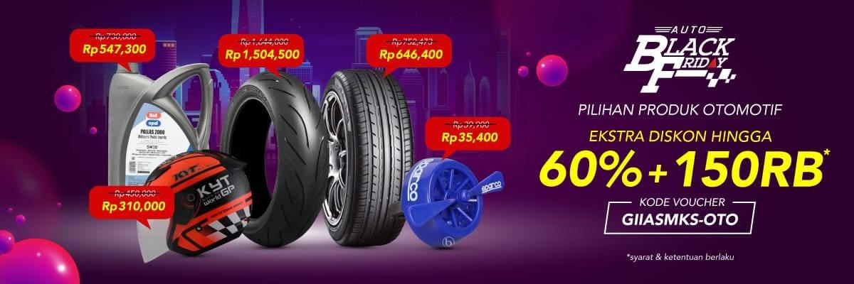 Diskon BLIBLI.COM Extra Diskon up to 60% + 150Rb untuk Produk Otomotif!