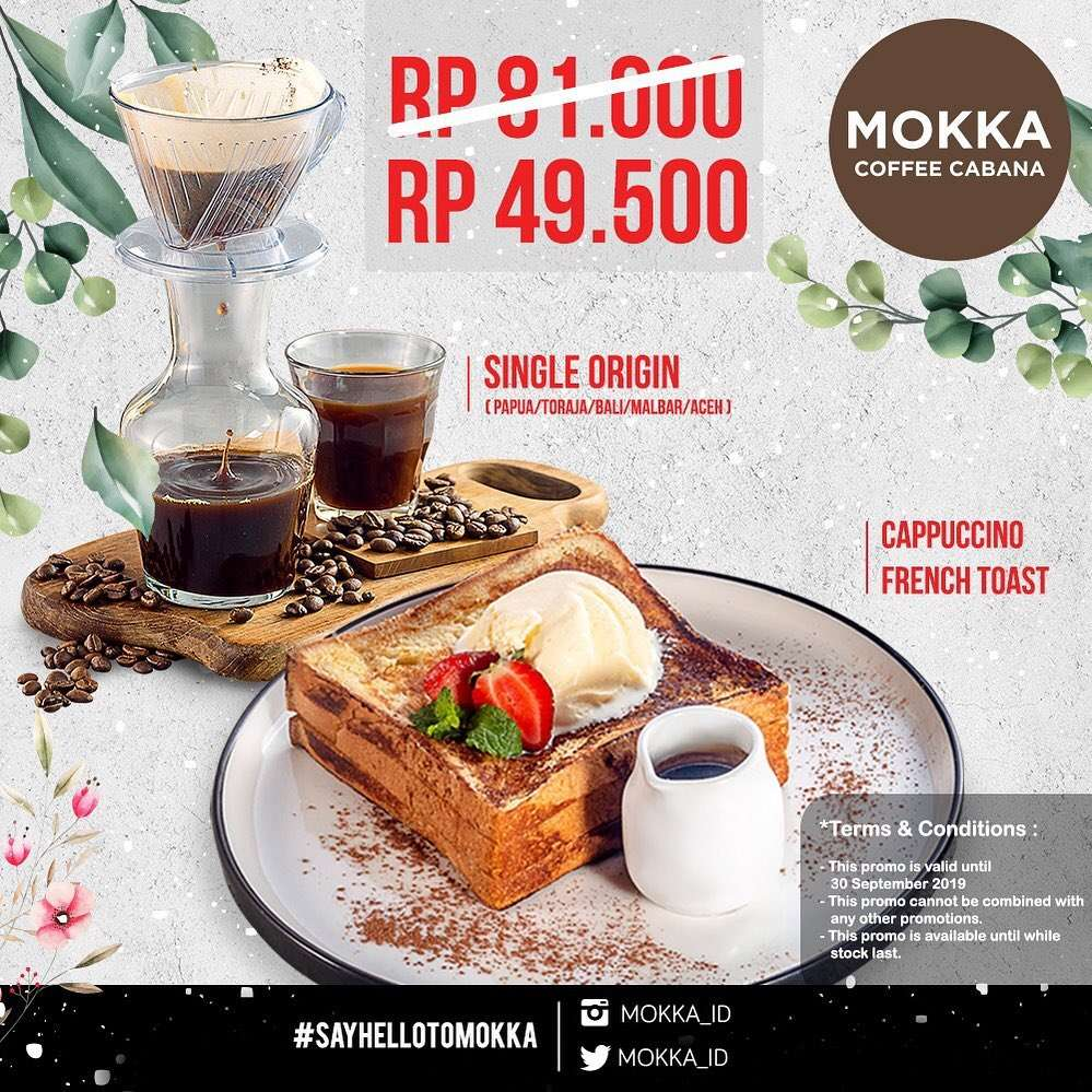 MOKKA COFFEE CABANA Promo New Bundling Menu only Rp. 49.500