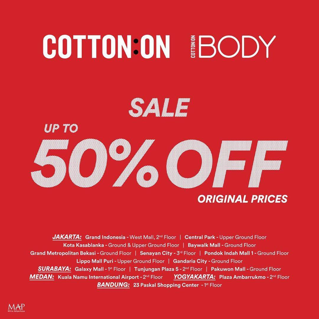 COTTON ON MID SEASON SALE up to 50% OFF