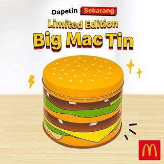 Diskon McDonalds Promo Limited Edition Big Mac Tin! Cukup nambah Rp 12.727 saja