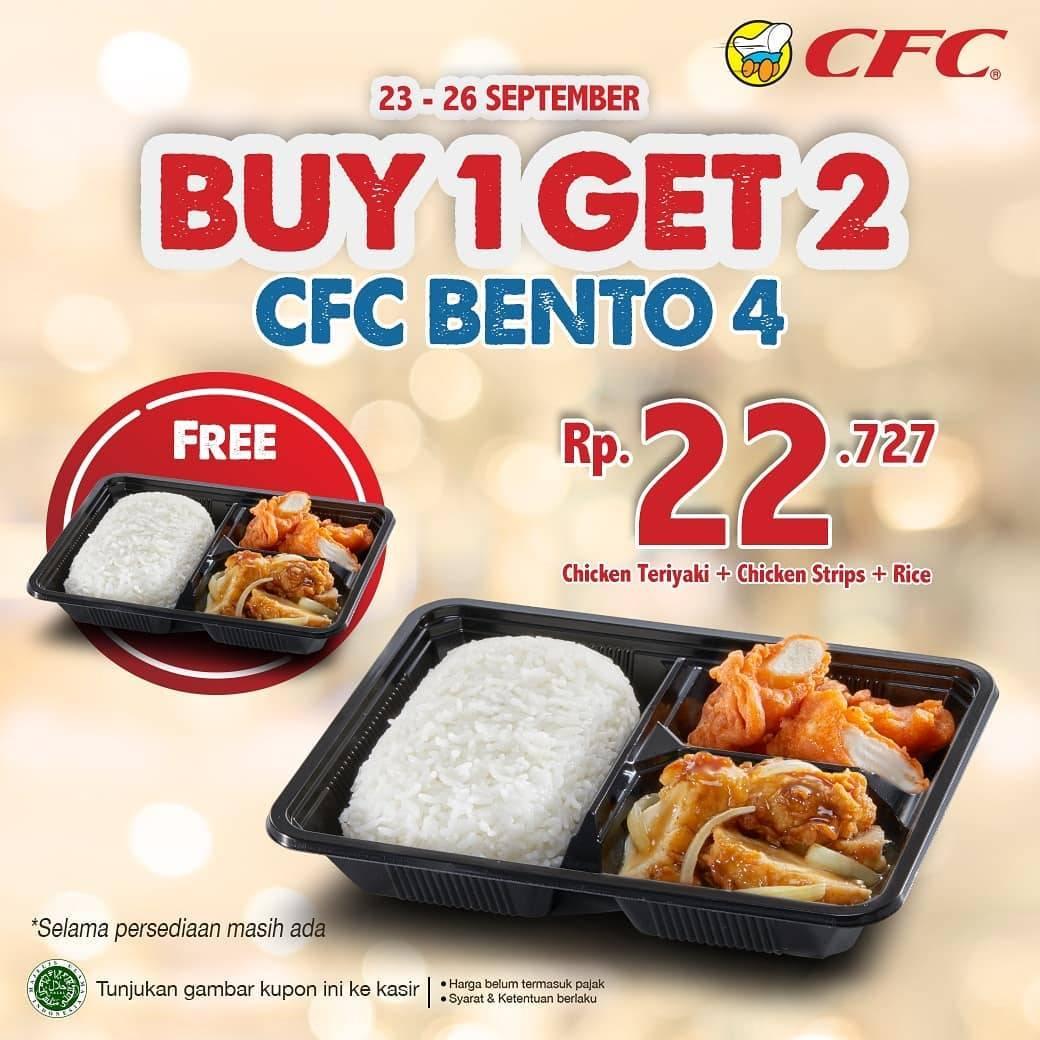 CFC Promo Kupon Paket Hemat CFC Bento dapatkan Harga Spesial Hanya Rp. 22.727
