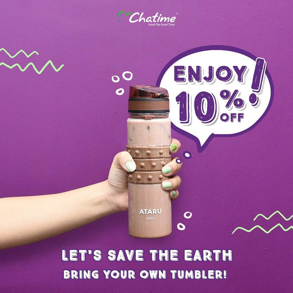 Diskon CHATIME BRING YOUR OWN TUMBLER and GET DISCOUNT 10% off