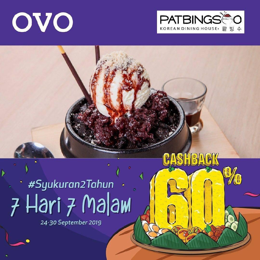 PATBINGSOO Promo CASHBACK 60% untuk transaksi dengan OVO