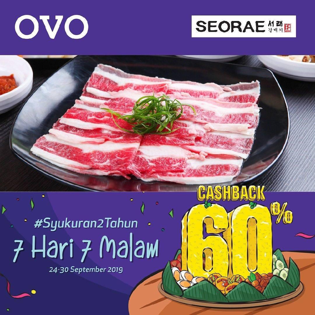 SEORAE Promo CASHBACK 60% untuk transaksi dengan OVO