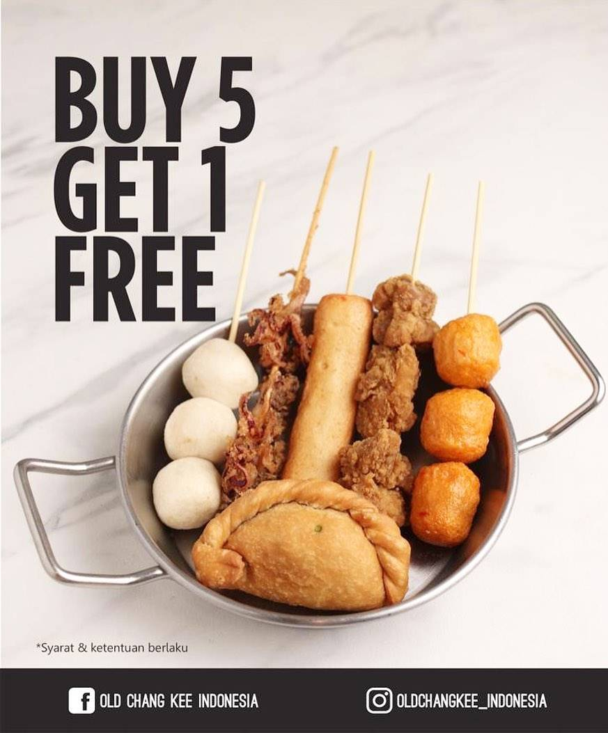 OldChangKee Promo Buy 5 Get 1 Free