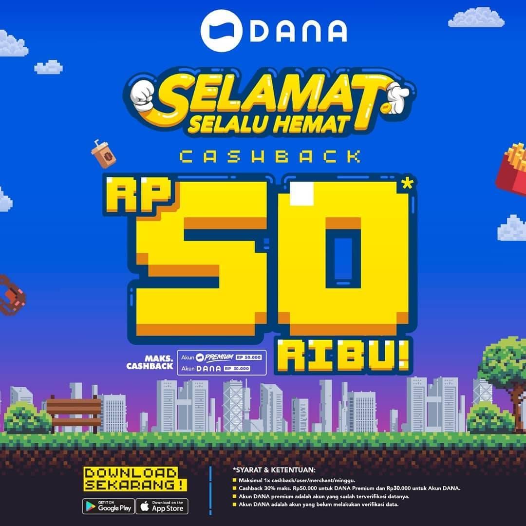 Diskon EXCELSO Promo CASHBACK 30% hingga Rp. 50.000 dengan DANA