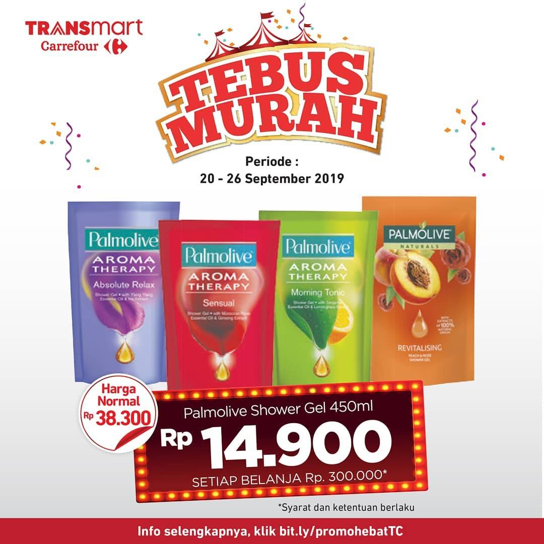 TRANSMART CARREFOUR Promo Palmolive Shower Gel 450ml Hanya Rp 14.900