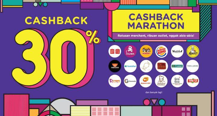 OVO Cashback 30% Marathon Kuliner & Belanja se-Indonesia!