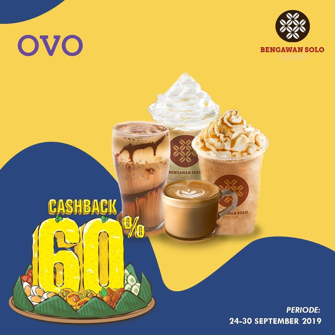 BENGAWAN SOLO COFFEE Promo Syukuran 2 Tahun OVO! CASHBACK 60% untuk transaksi dengan OVO