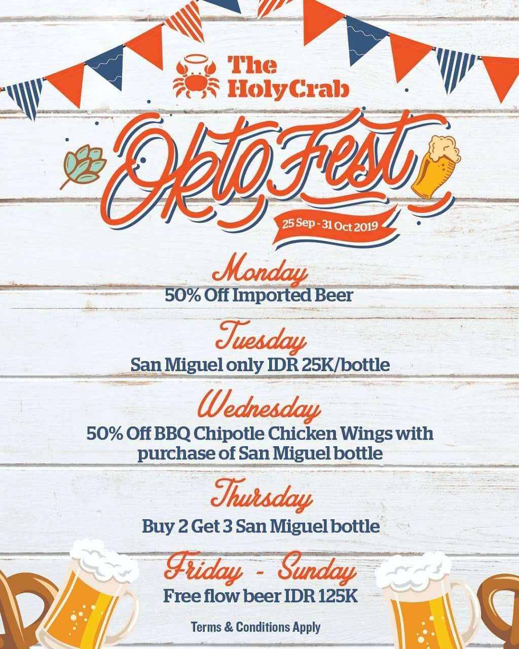 Diskon THE HOLY CRAB Promo OKTOFEST