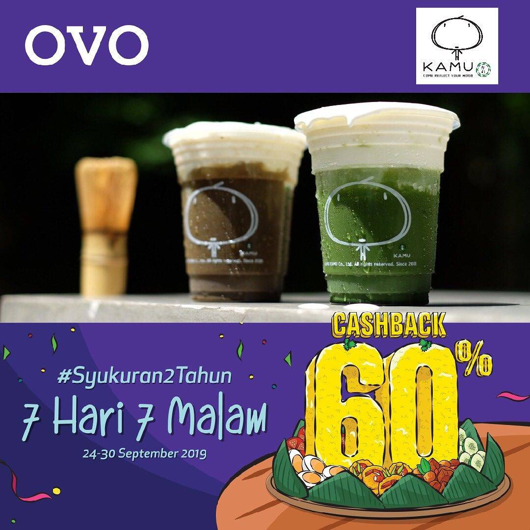 Diskon KAMU TEA Promo Hajatan 2 Tahunan OVO – CASHBACK hingga 60%