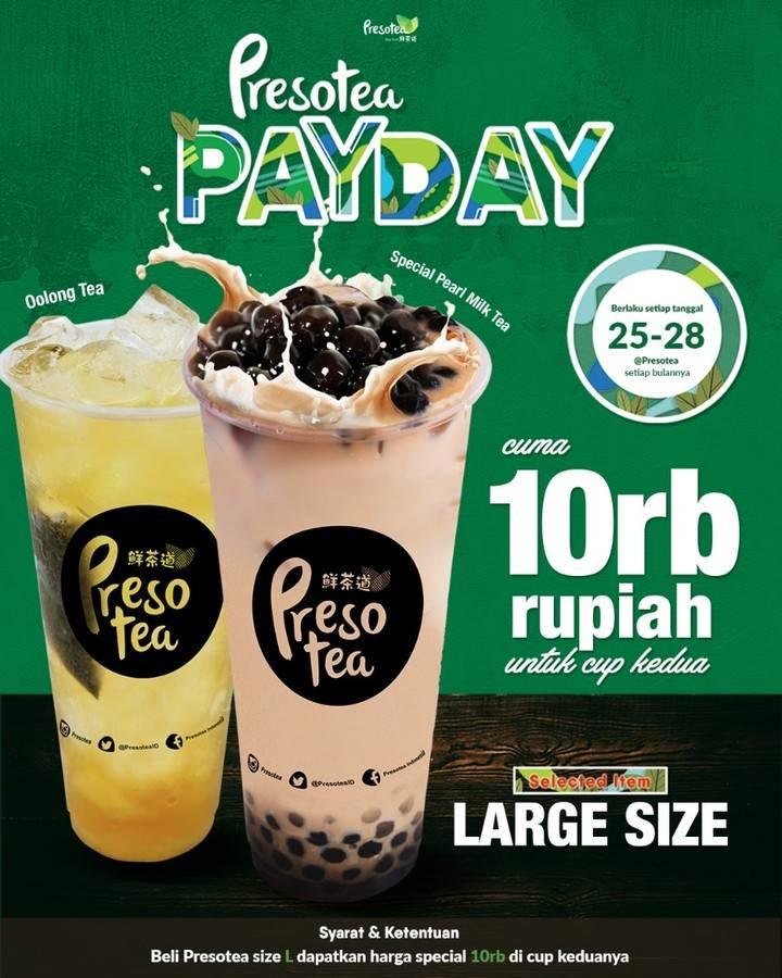 Presotea Promo Payday hanya 10 Ribu Rupiah Untuk Cup Kedua