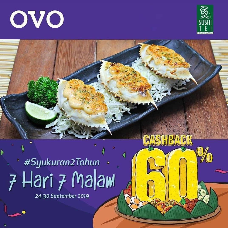 Diskon SUSHI TEI OVO PAYDAY! CASHBACK 60% untuk transaksi dengan OVO