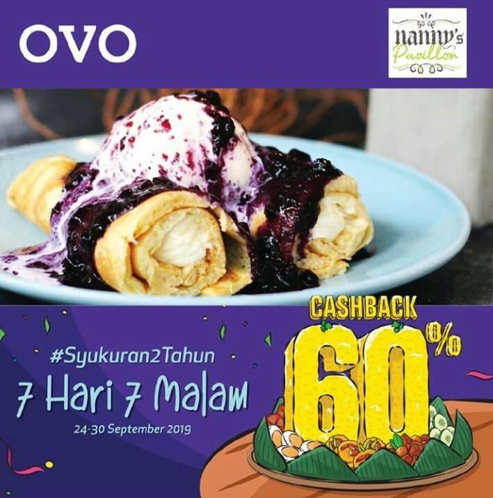 Nanny's Pavillon Promo OVO PAYDAY! CASHBACK 60% untuk transaksi dengan OVO