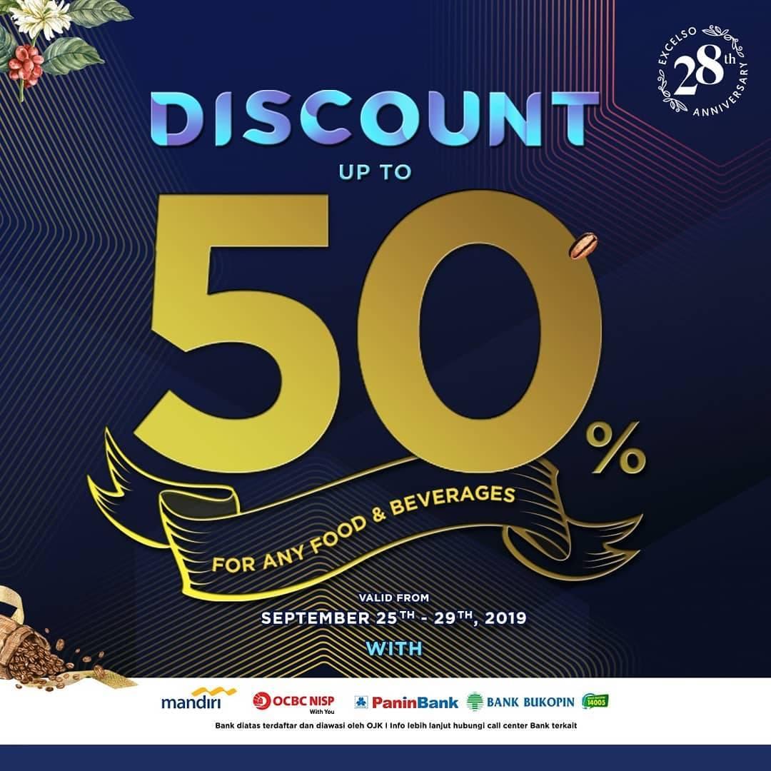 Diskon Excelso Birthday Treats Dapatkan Diskon hingga 50% dengan Kartu Kredit Bank Rekanan