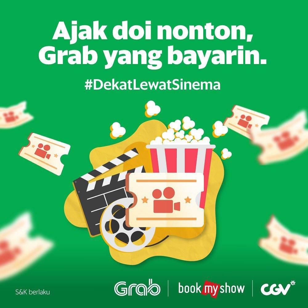 CGV CINEMA Promo DISKON 50% untuk pembelian tiket via GRAB