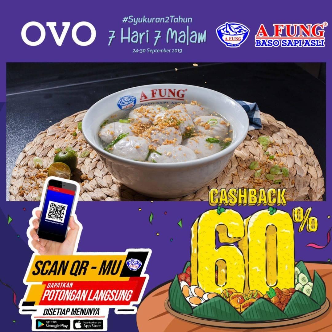 BASO AFUNG Promo Cashback 60% Dengan Menggunakan OVO