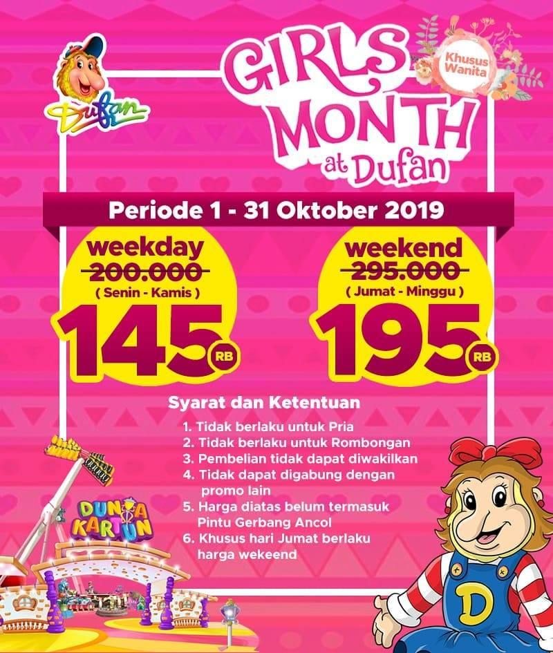 Diskon DUFAN Girl's Month Dapatkan Harga Spesial khusus untuk kalian Wanita Indonesia