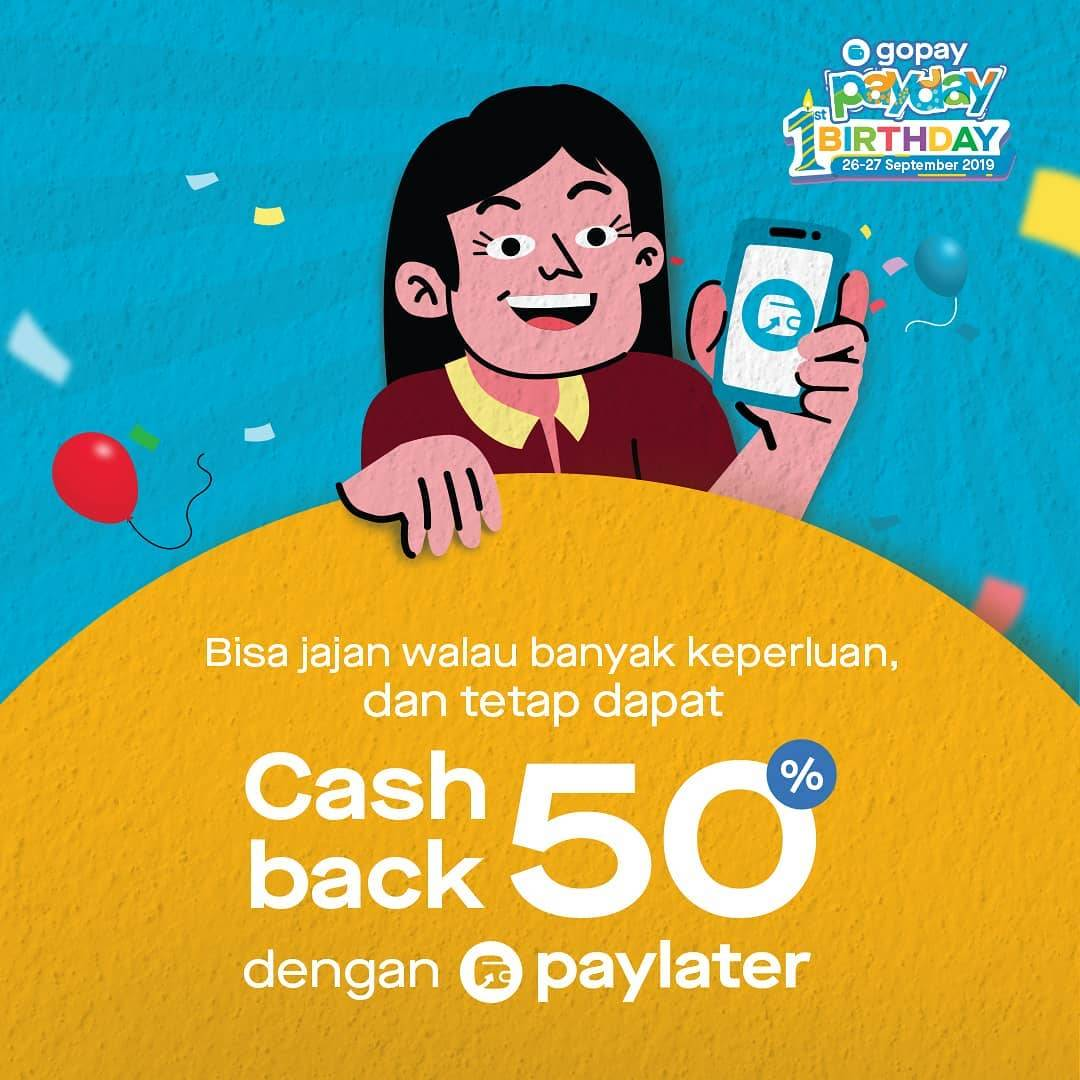 GOPAY PAYDAY Promo! Bayar Pakai Go-Pay* Dapat CASHBACK hingga 50%
