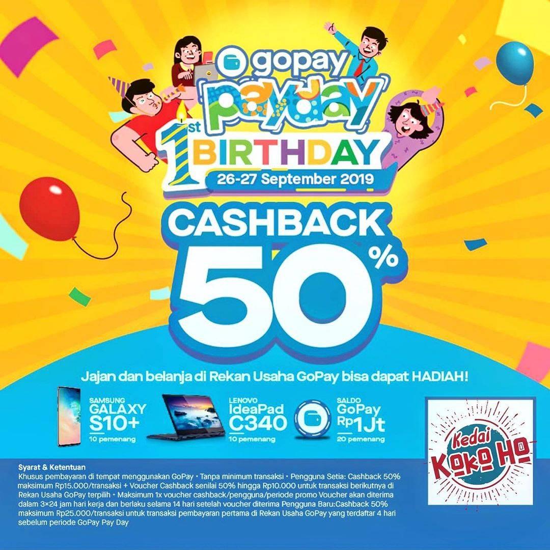 KEDAI KOKOHO Bekasi Promo GOPAY PAYDAY – Cashback Hingga 50% Untuk Transaksi Dengan GOPAY