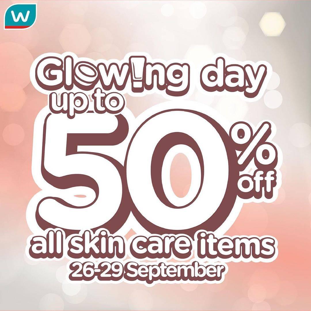 WATSONS Glowing Day! Diskon hingga 50% untuk Produk Skin Care