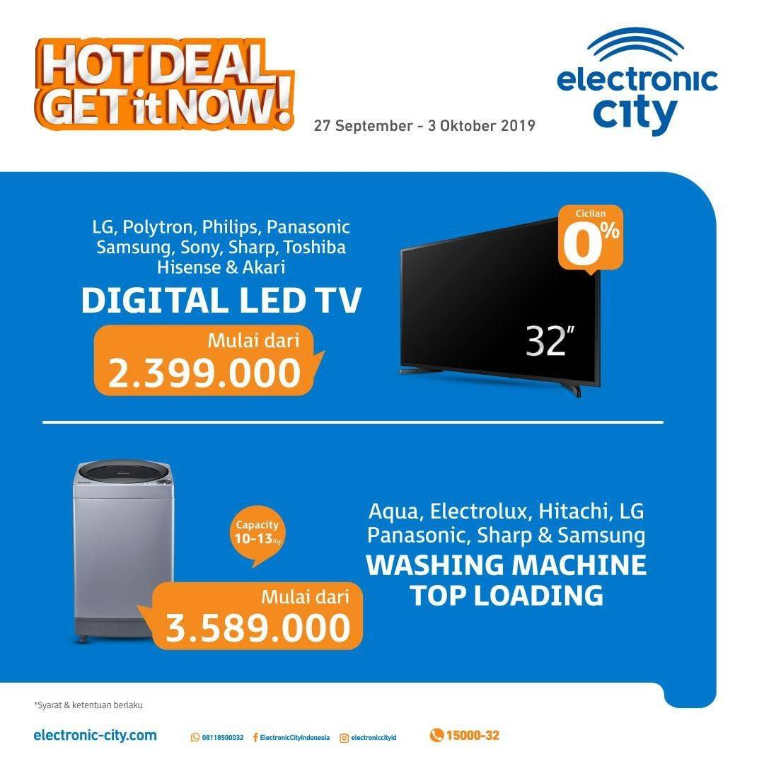 ELECTRONIC CITY HOT DEALS periode 27 September – 03 Oktober 2019