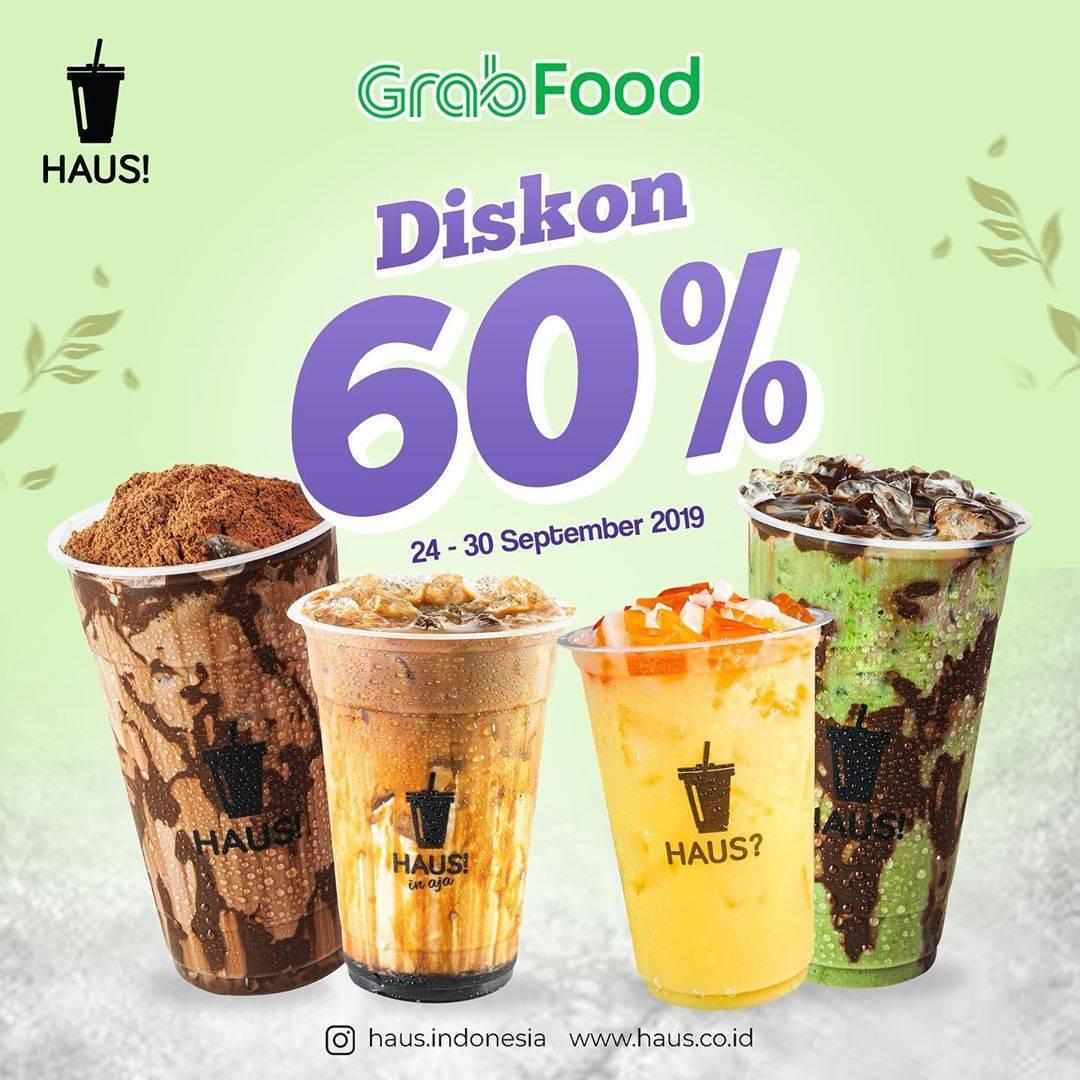 HAUS! Promo Diskon 60% di aplikasi GrabFood
