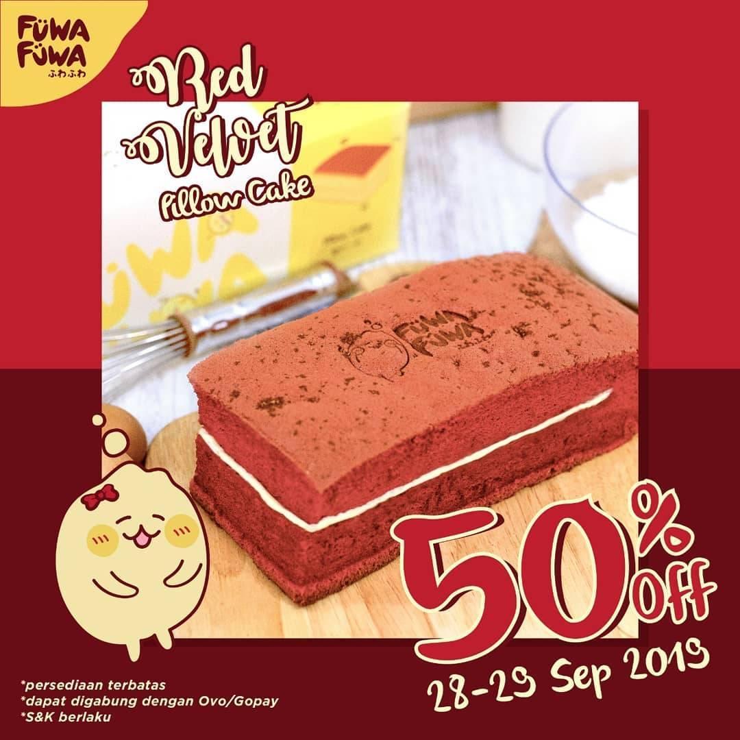 FUWA FUWA Promo 50% off khusus untuk Menu Red Velvet Pillow Cake