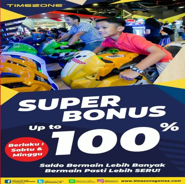 TIMEZONE Promo SUPER BONUS Up to 100%