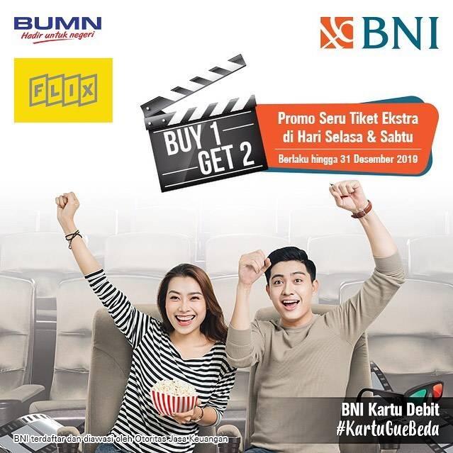 FLIX CINEMA Promo BELI 1 GRATIS 2 dengan KARTU DEBIT BNI
