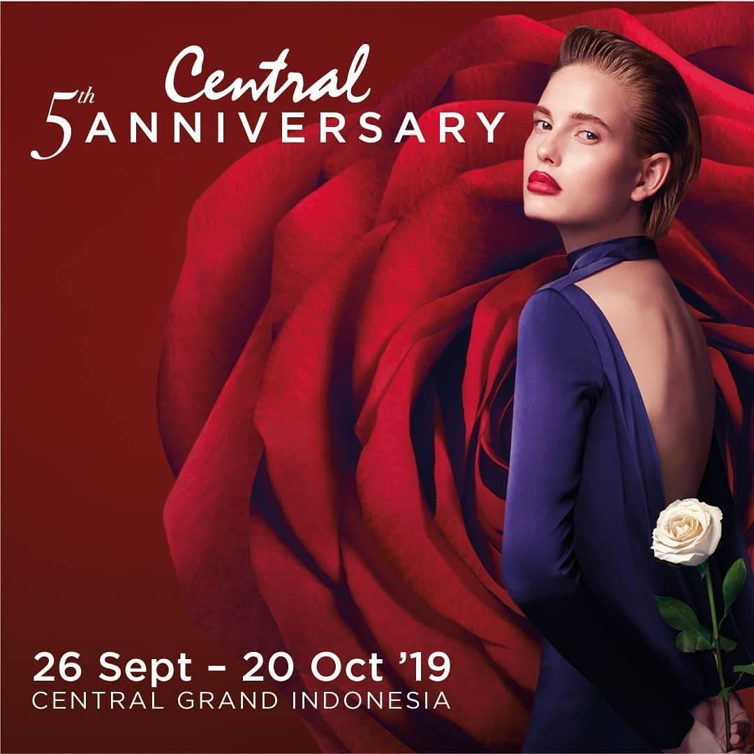 CENTRAL Department Store Central 5th Anniversary, GRATIS Voucher hingga Rp. 1.500.000 dengan Kartu K