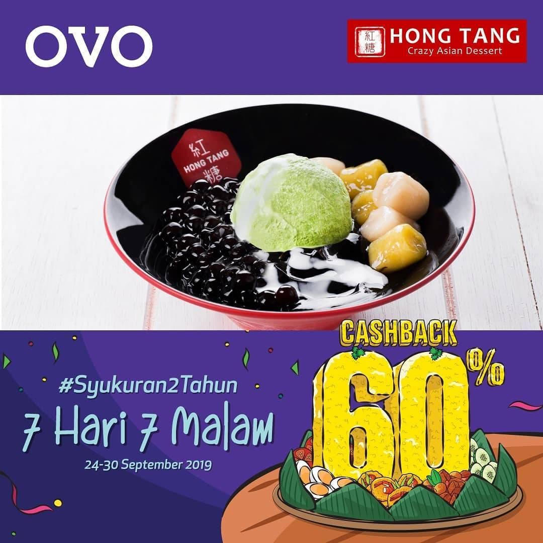 Diskon HONG TANG OVO PAYDAY! CASHBACK 60% untuk transaksi dengan OVO