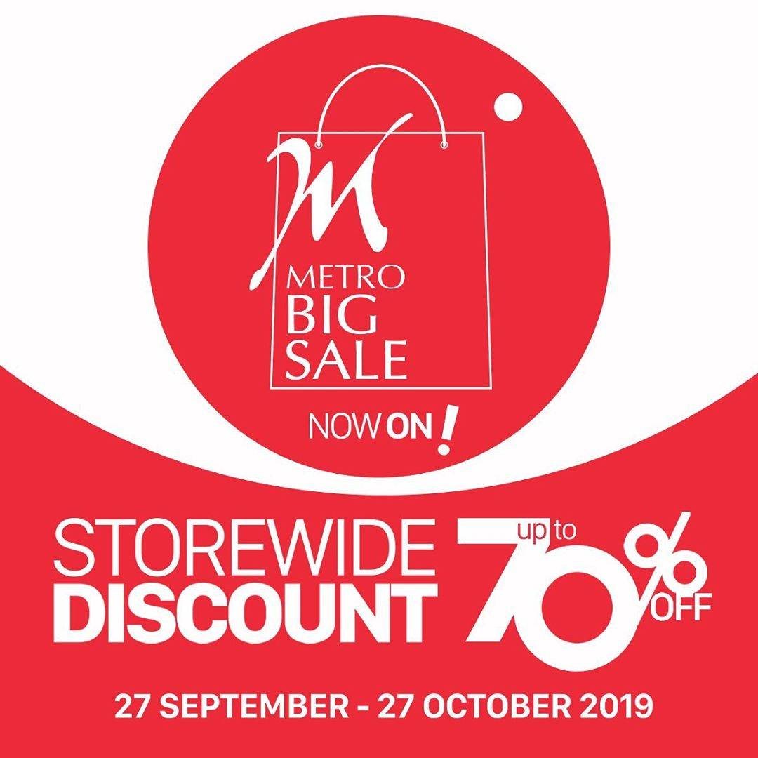METRO BIG SALE is Now On! Storewide Discount up to 70% off