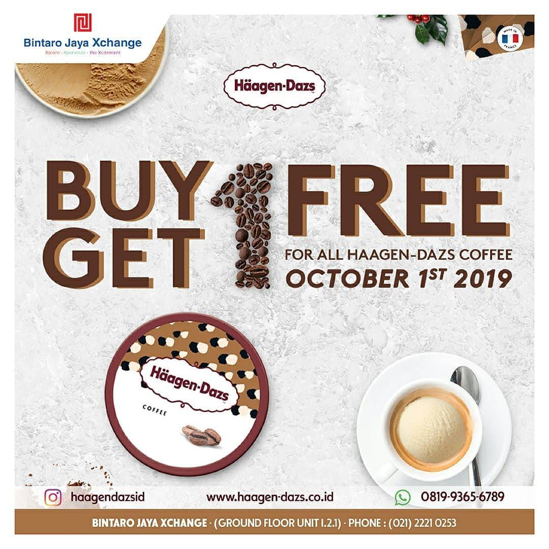 Haagen-Dazs Promo Buy 1 Get 1 FREE for All Haagen-Dazs Coffee