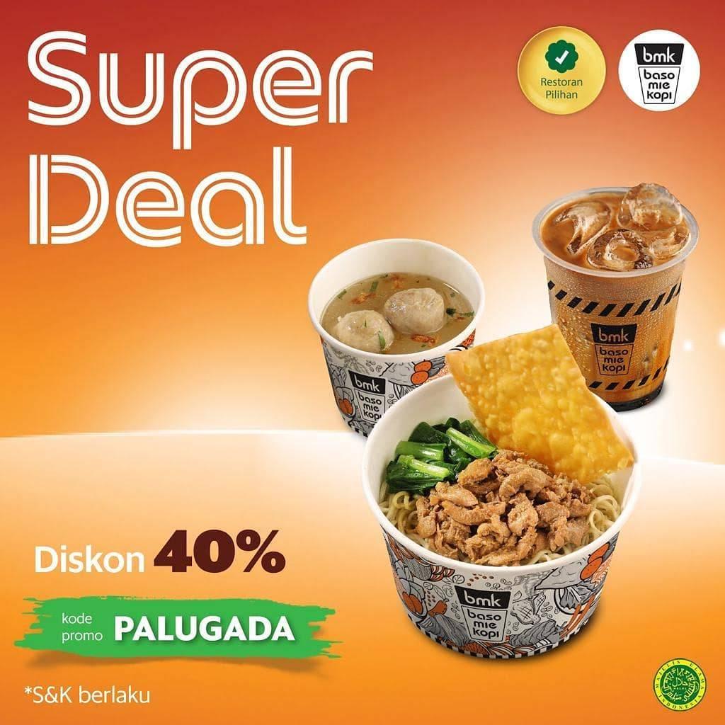 Diskon BMK RESTO Promo SUPER DEALS GRABFOOD! DISKON hingga 40% khusus pemesanan via GRABFOOD