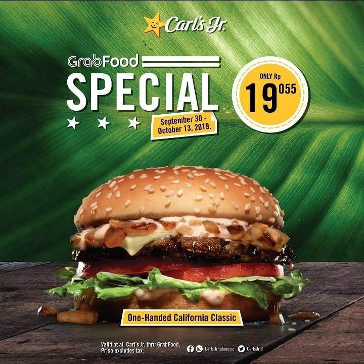 CARLS JR GRABFOOD SPECIAL Dapatkan Harga Spesial Menu Pilihan mulai Rp. 19.055