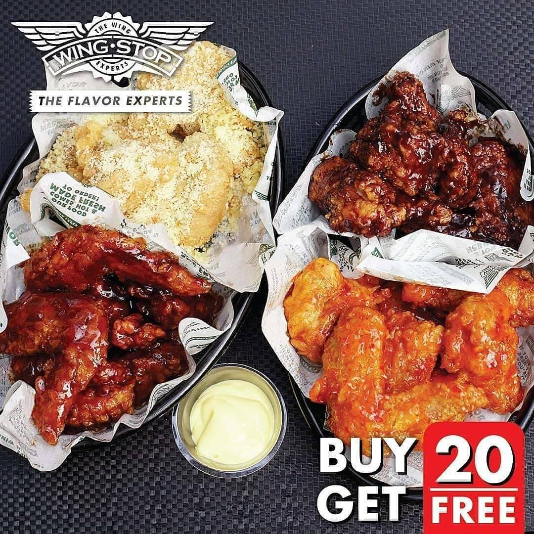 WINGSTOP GRATIS 20 Boneless Wings setiap pembelian 20 Crunchy Wings via GRABFOOD