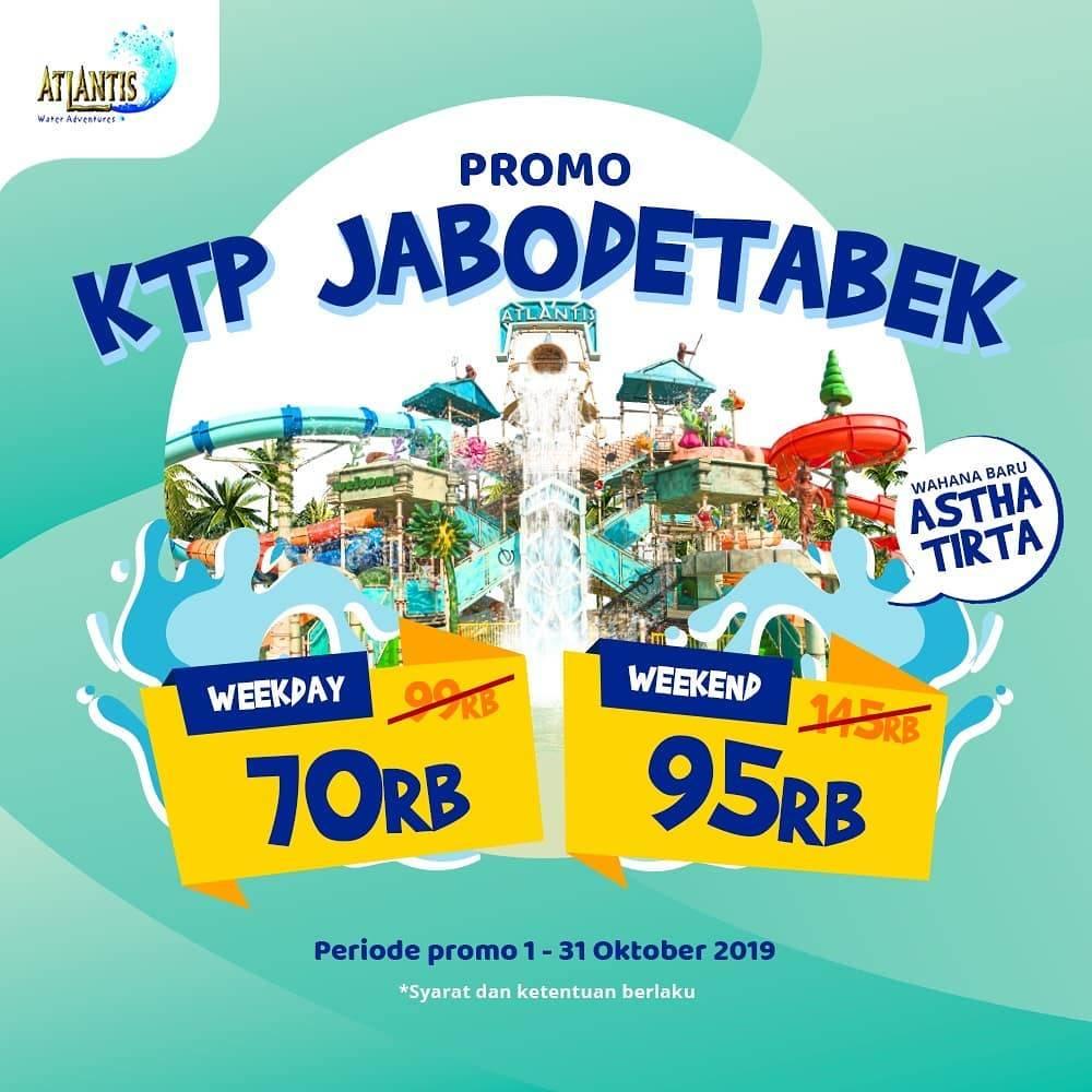 Diskon ATLANTIS Water Adventure Promo HARGA SPESIAL Tiket Masuk khusus pemegang KTP JABODETABEK