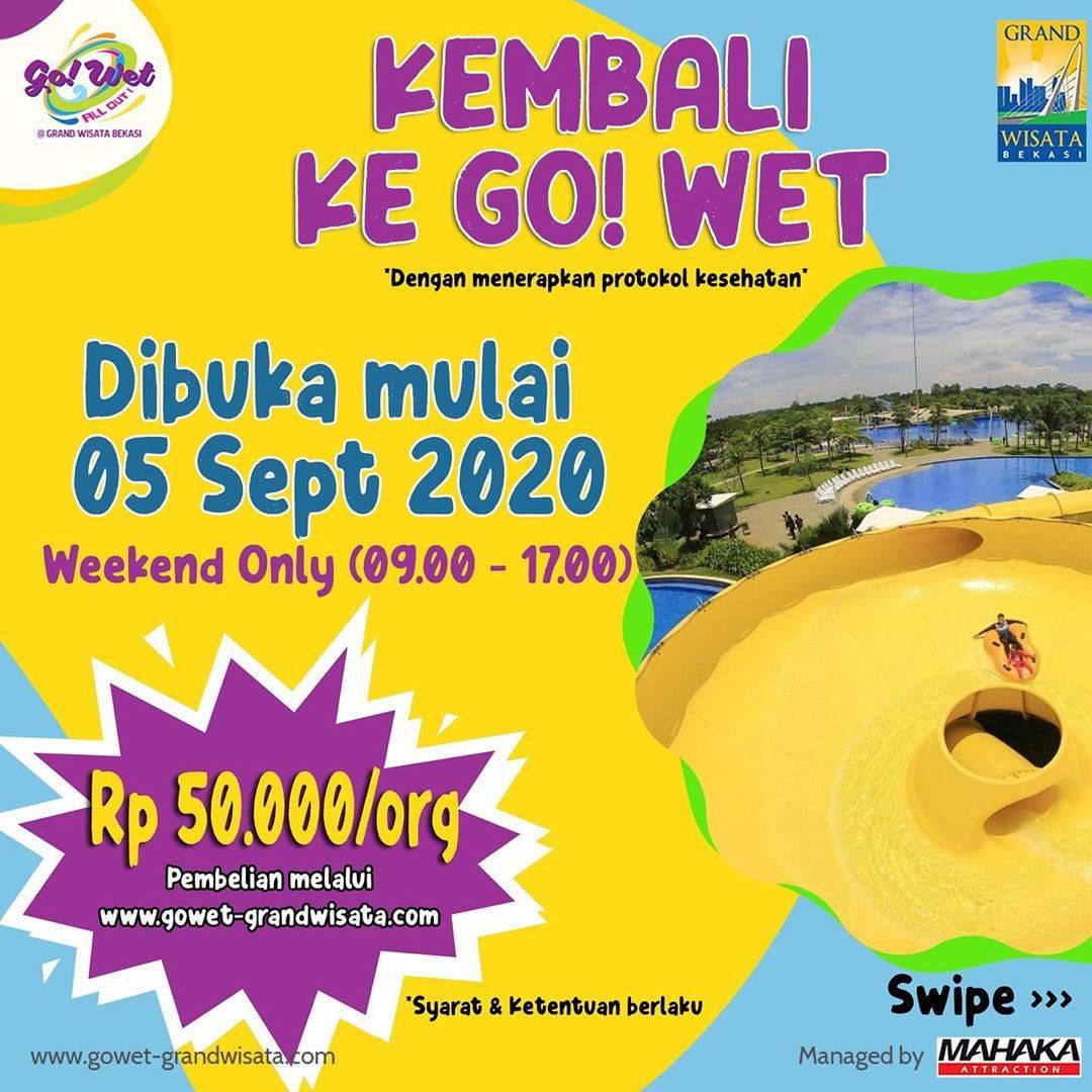 Diskon Go Wet Pre Sale Harga Tiket Hanya Rp. 50.000/Orang