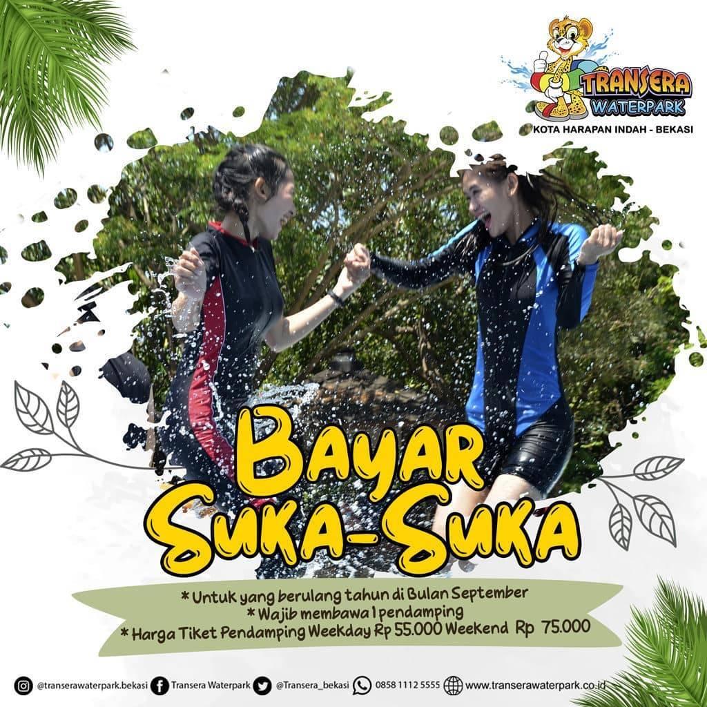 Diskon Promo Transera Waterpark Bayar Suka Suka Untuk Yang Berulang Tahun Bulan September