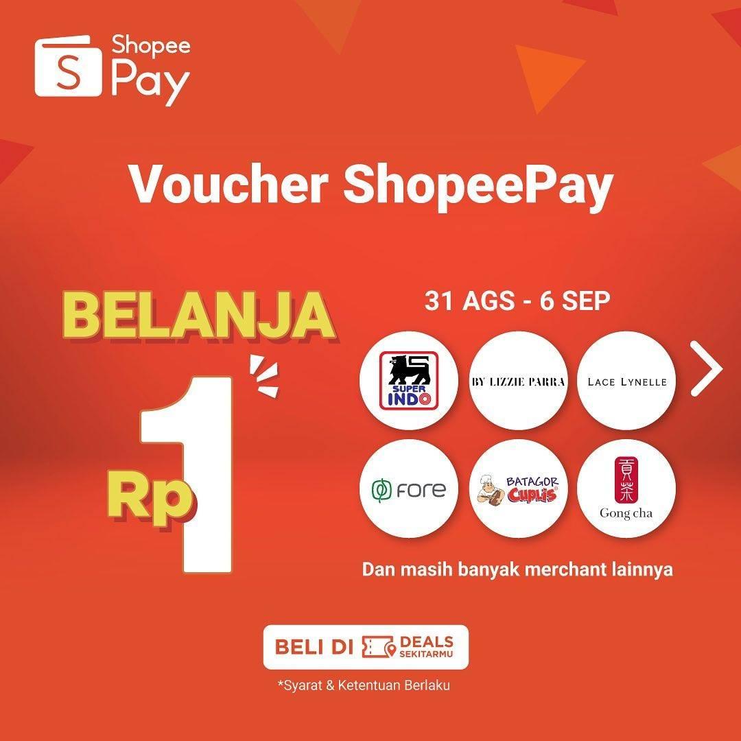 Diskon Shopeepay Voucher Belanja Rp. 1