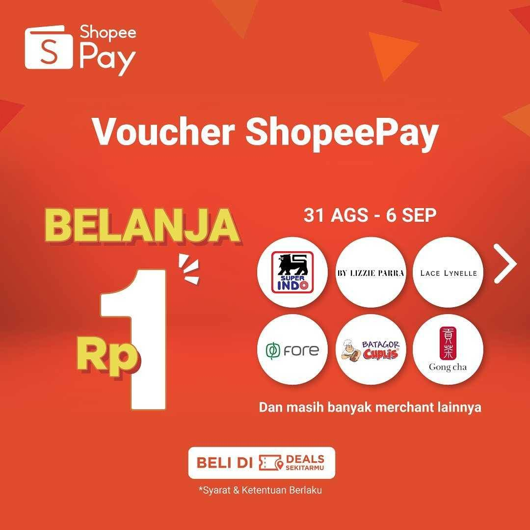 Promo diskon Shopeepay Voucher Belanja Rp. 1