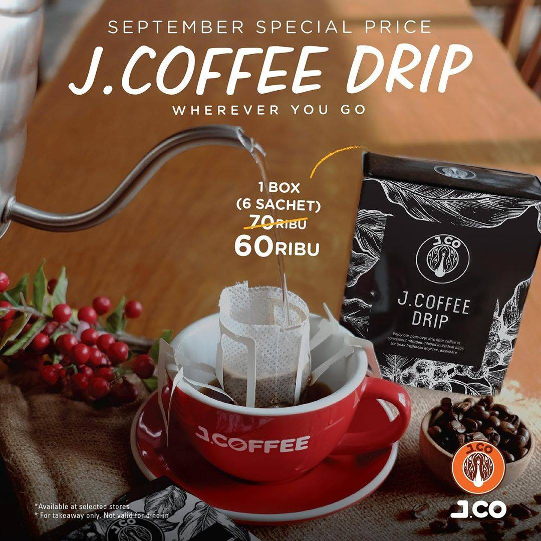 Diskon J.CO September Special Drip Hanya Rp. 60.000/Box