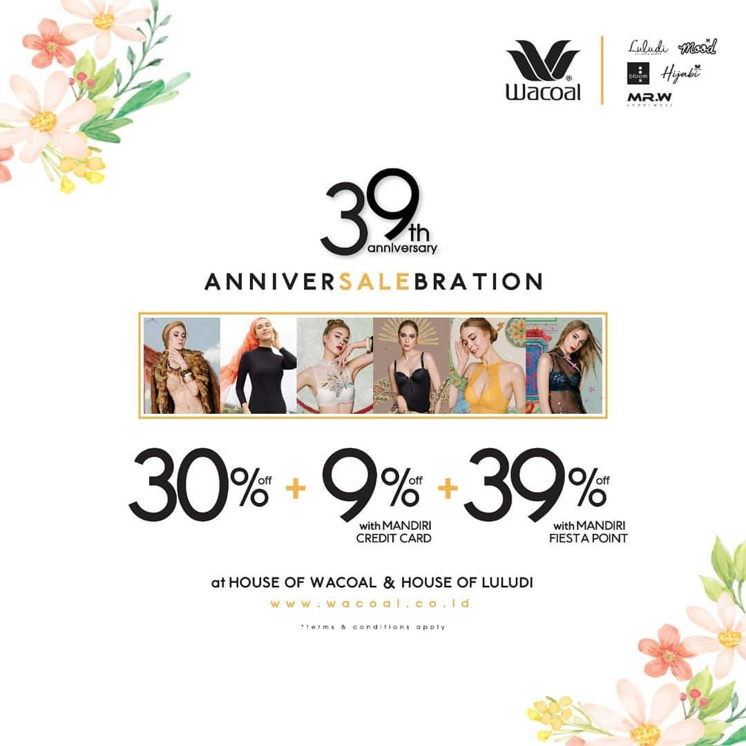 Diskon Wacoal 39th Anniversary Celebration Discount Up To 39% Off