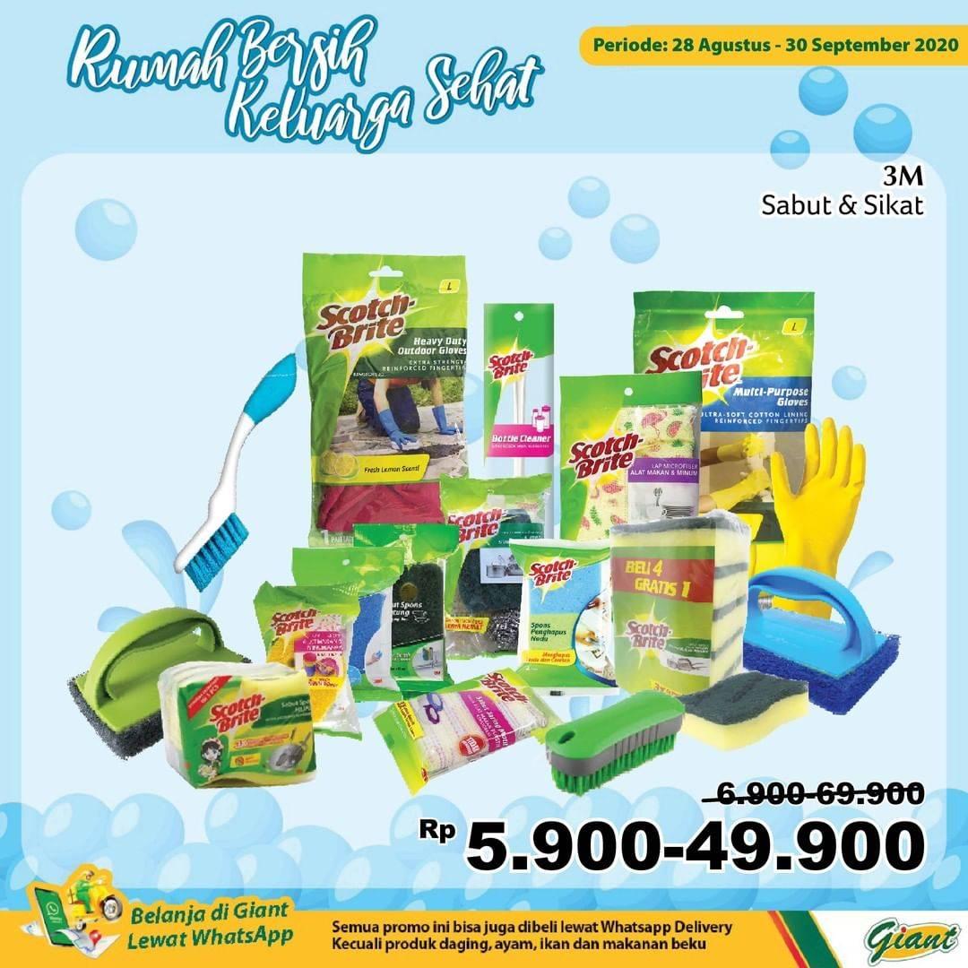 Diskon Katalog Promo Giant Alat Kebersihan Murah Periode 28 Agustus - 30 September 2020