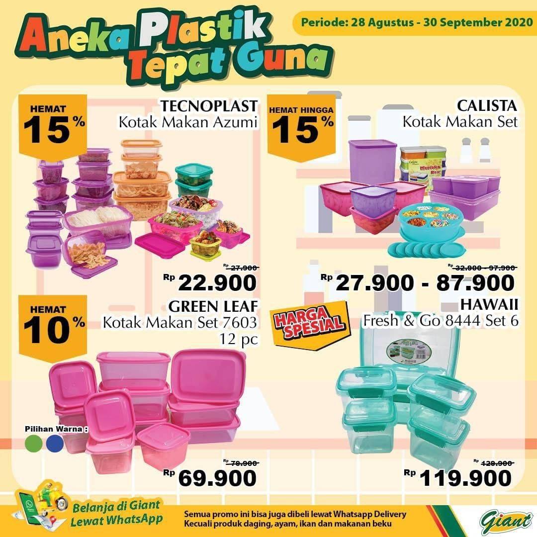 Diskon Katalog Promo Giant Aneka Plastik Periode 28 Agustus - 30 September 2020